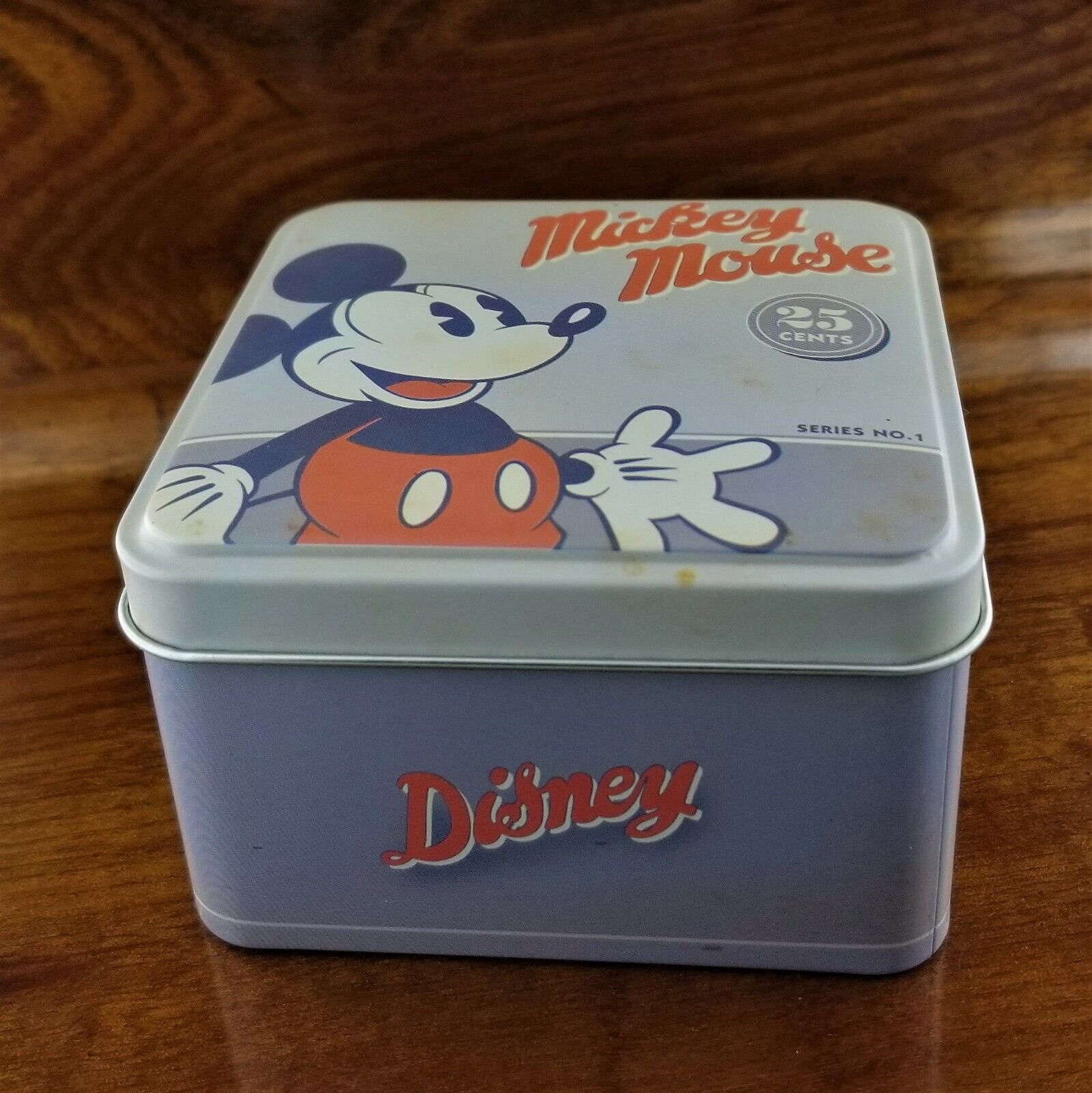 New DISNEY Mickey Mouse Fossil Watch Tin Box Set with Manual