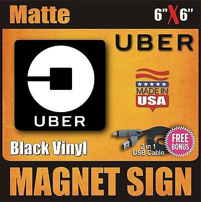 Uber Magnets Sign   Set Of Two   Matte