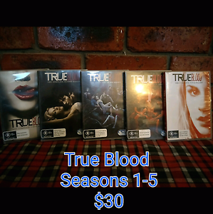 True Blood Seasons 1 to 5 *reduced* Rockbank Melton Area Preview