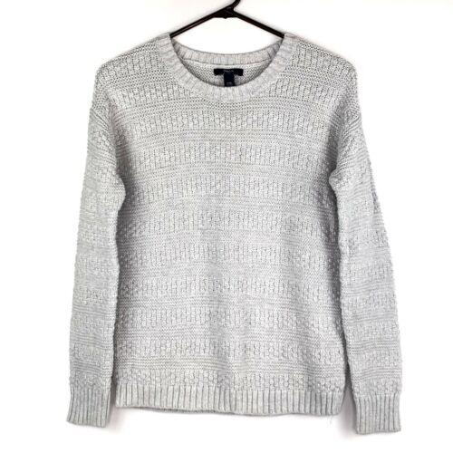 GAP Kids Girls Silver Gray Pullover Crew Neck Textured Long Sleeve Sweater XXL