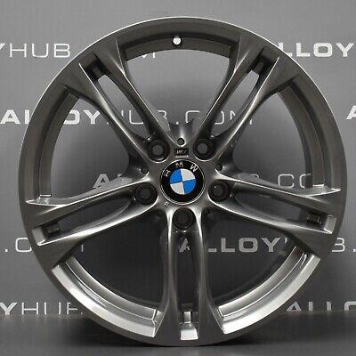 """GENUINE BMW 5 6 SERIES F10 F11 613M SPORT 18"""" INCH FERRIC GREY ALLOYS WHEELS X4"""