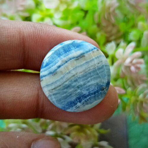 Blue Rhodochrosite ( Blue Scheelite ) Hand Polish Stone Round Shape For Jewelry