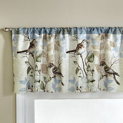 Floral Bluebird Kitchen and Bathroom Valance - Indoor Window Treatment
