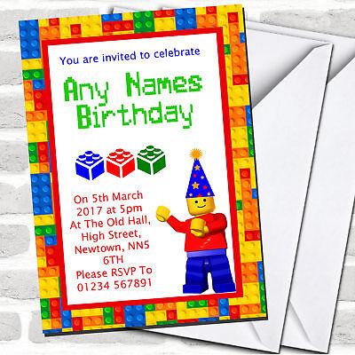 Building Blocks Bricks Children's Party Invitations](Kids Invitations)