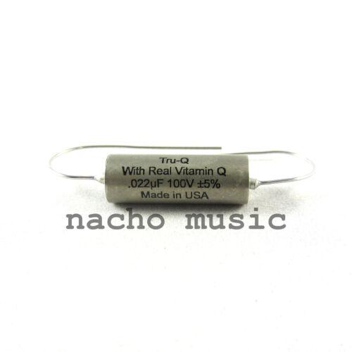 """Tru-Q™ .022uF """"Vitamin Q"""" Paper-in-Oil PIO Guitar Tone Capacitor -Made in USA"""