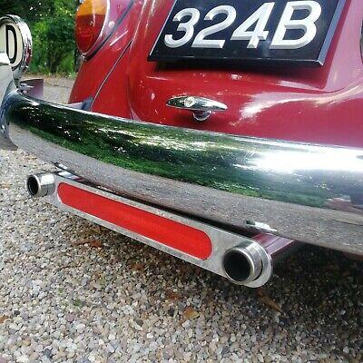 Reflectante Escape Embellecedor Para VW Escarabajo Karmann Ghia Aluminio AAC288