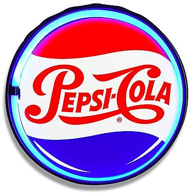 Pepsi Cola LED Neon Lighted Sign, Retro Vintage Style - Bar, Garage, or Man Cave