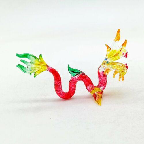 Naga Dragon Figurine Animal Hand Blown Glass - GTDG021