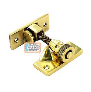 Polished Brass Sash Window Fastener Brighton Screw Type