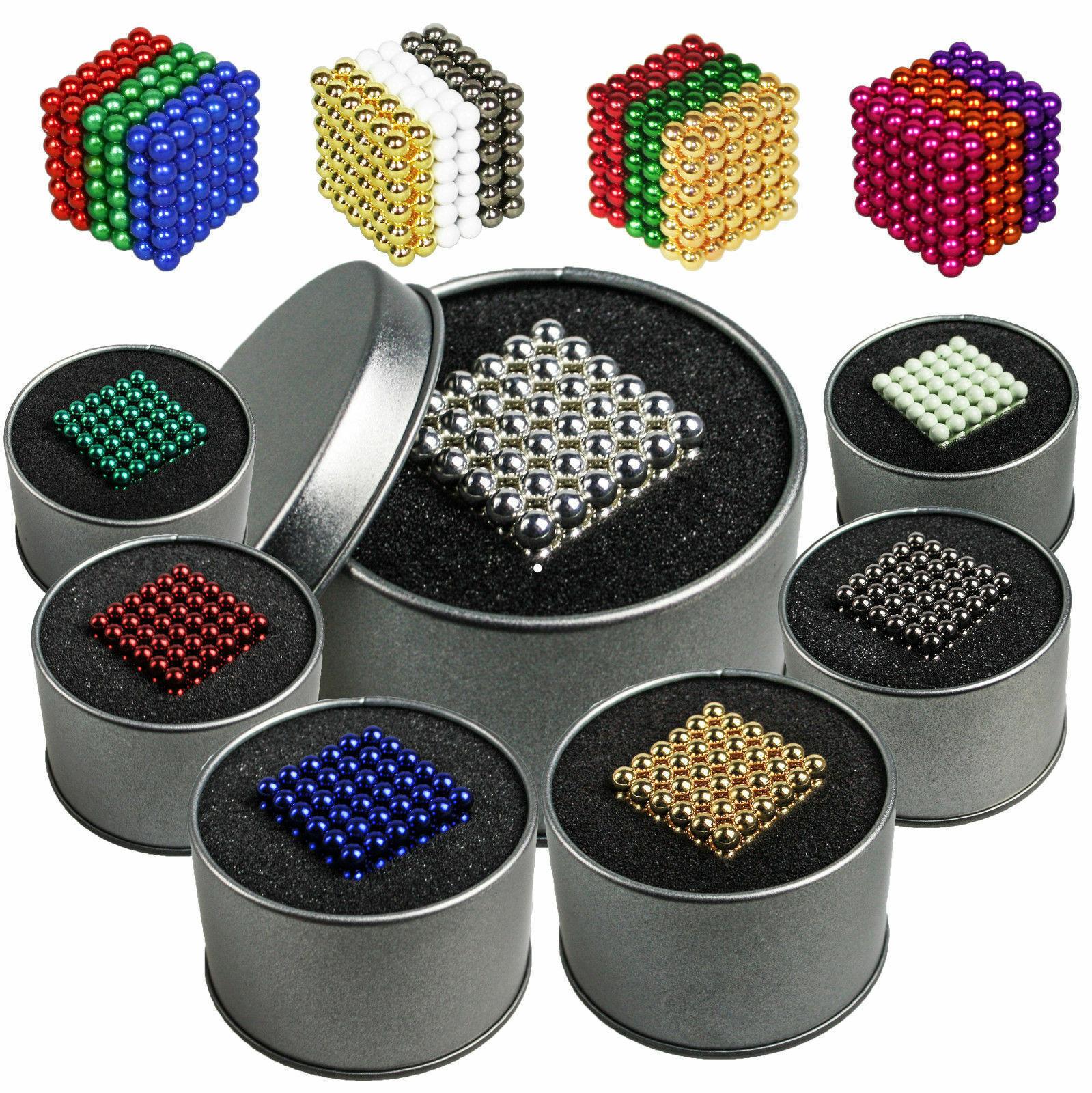 216 Magnetkugeln 5mm in Metalldose- Supermagnet - Whiteboard-/Kühlschrankmagnete