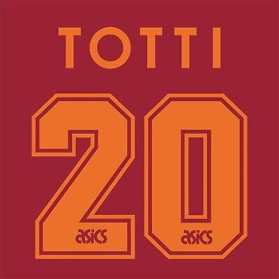 Totti 20. Roma Home football shirt 1995 - 1996 FLEX NAMESET NAME SET PRINT image