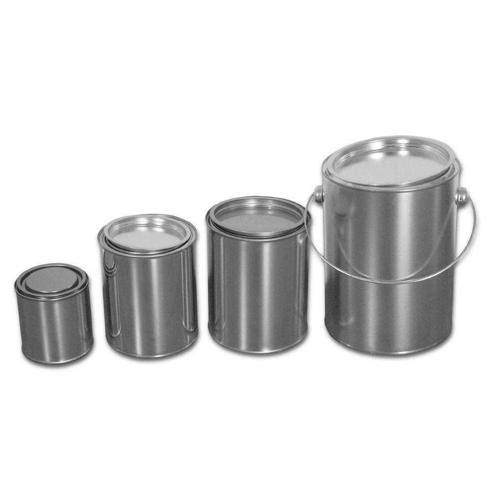 BLECHDOSEN mit Eindrückdeckel, Metalldosen, Metallbehälter, Weißblech