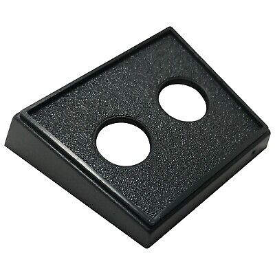 5 Pack Toggle Switch Double Round Black Mounting Panel W Two 12 Diameter Holes