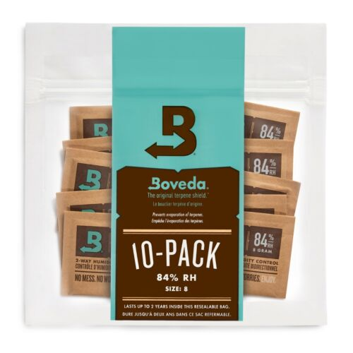 Boveda 84% RH 2-Way Humidity Control | Size 8 for Woodwind Reeds | 10-Count