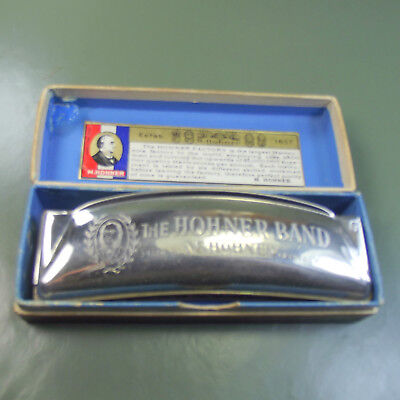 M. HOHNER BAND HARMONICA in Key of G, STAR LOGO. Made in GERMANY. 1930's. Boxed