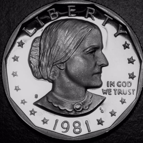 1981-S Deep Cameo GEM Proof (Susan B Anthony) US One Dollar (Type1)
