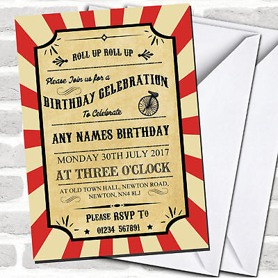 Carnival Birthday Invitations (Carnival Circus Vintage Children's Birthday Party)
