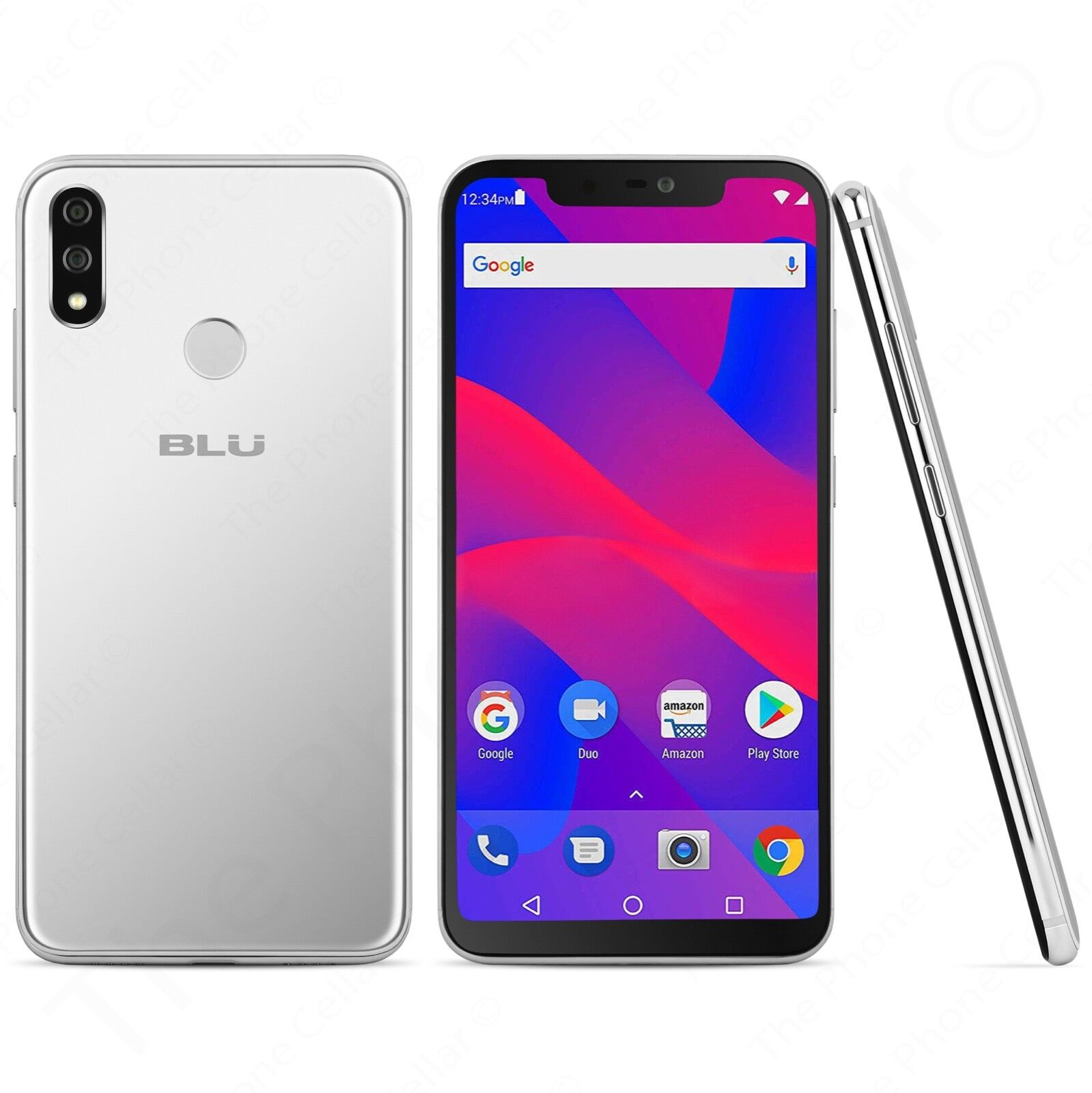 Android Phone -   Unlocked BLU - Vivo XI+ V0310WW Cell Phone | 64GB (Silver) Smartphone Android