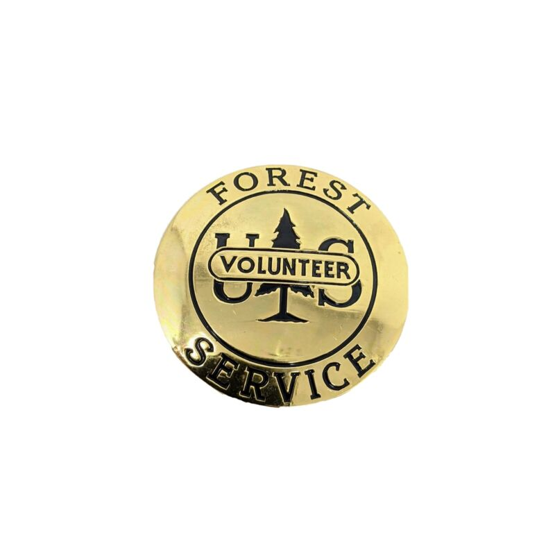 US Forest Service Volunteer Round Metal Pin Badge