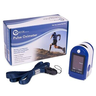 Roscoe Medical Finger Pulse Oximeter Oxygen Saturation Monitor New In Box