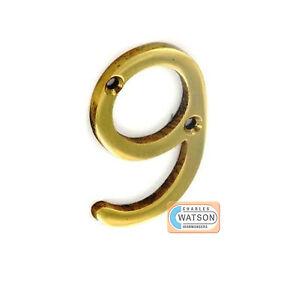 2-034-51mm-chiffre-maison-porte-Numero-9-Cuivre-NEUF