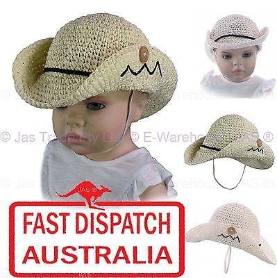 Baby Kid Toddler Girl Boy Faux Straw Western Cowboy Dance Party Costume Sun - Toddler Boy Cowboy Hat