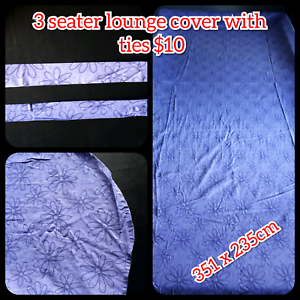 3 seater lounge cover with ties