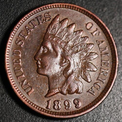 1899 INDIAN HEAD CENT -With LIBERTY & Near 4 DIAMONDS - AU UNC