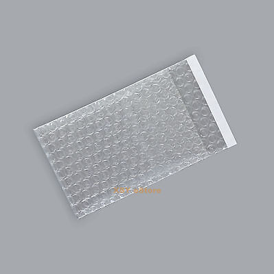 """100 Self Seal Clear Bubble Small Packing Pouches Bag 2.5"""" x 3""""_65 x 80+20mm"""