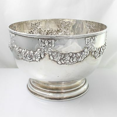 Large Antique Solid Sterling Silver Rose Bowl Elkington & Co Hallmarked 1897 6½""