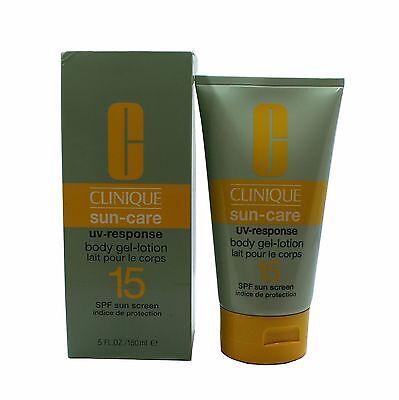 CLINIQUE SUN-CARE SPF15 SUNSCREEN UV-RESPONSE BODY-GEL LOTION 150 ML/5 FL.OZ.(D) Clinique Spf 15 Sunscreen
