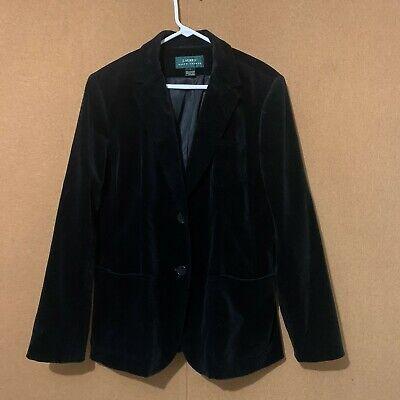 LAUREN RALPH LAUREN Ladie's Black Velvet Blazer Coat Jacket  Black Velvet Blazer Jacket