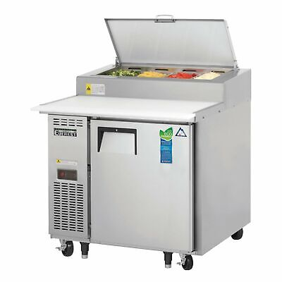 Everest Eppr1 35 Pizza Prep Table Refrigerated Counter