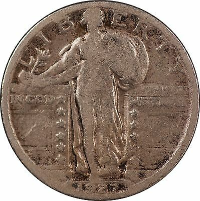 1927-P Standing Liberty Quarter - G/VG (Good / Very Good)