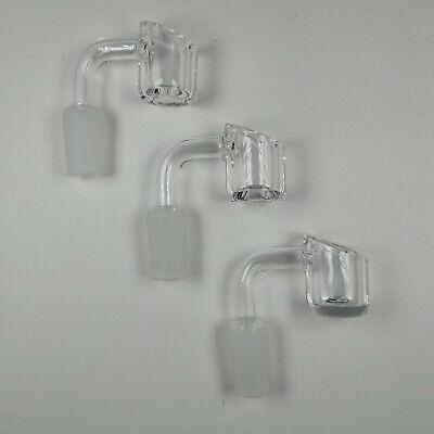 3 x 14mm Quartz Glass Bowls 4MM THICK 90 degrees male  USA STOCK FREE WAX TOOL