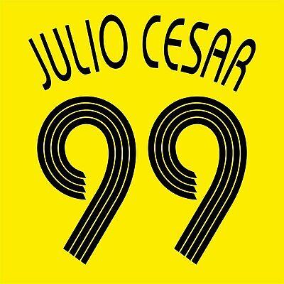 Julio Cesar 99 AEK Athens Home football shirt 2006 - 2007 FLEX NAMESET NAME SET  image