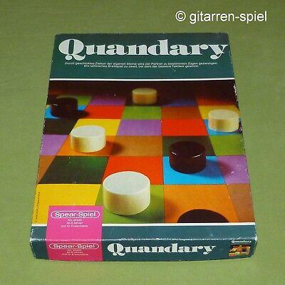 Quandary Altes Strategiespiel für zwei ab 8 Jahren Spear-Spiele ©1978 Rar 1A Top Zwei Jahre Altes Spielzeug