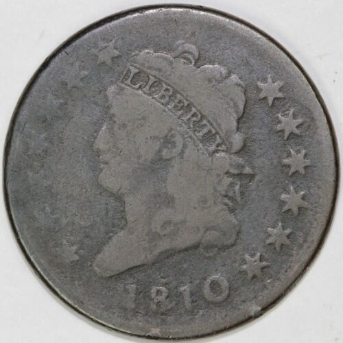 1810 1c Classic Head Large Cent UNSLABBED
