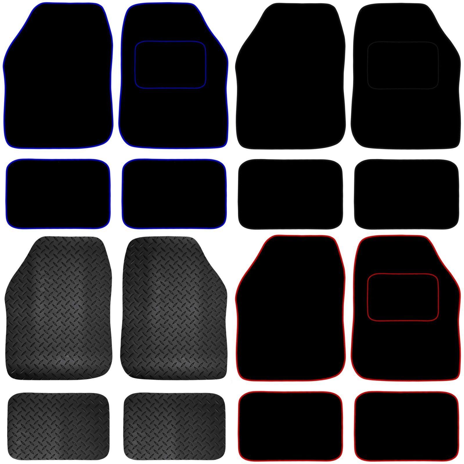 Car Parts - Universal Car or Van Floor Mats 4PC Set Non Slip Carpet or Rubber Red,Blue,Black