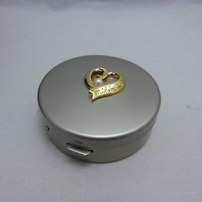 Mikimoto Metal Pill Case with Pearl Small Jewelry Box UNUSED! /w velvet pouch!