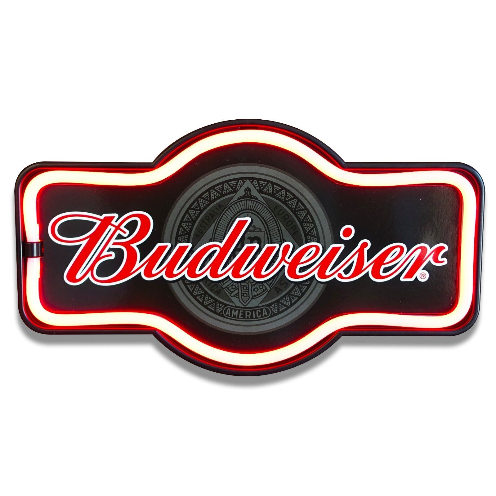 Budweiser Beer LED Neon Lighted Sign Marquee Shape For Bar,