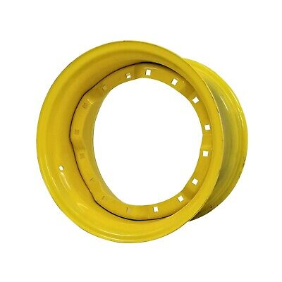 New 15x26 Jd Mfw Tractor Waffle Wheel - Jd Yellow  Re49472