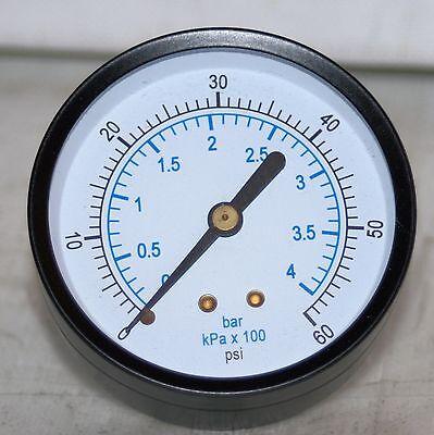 60 Psibar 2.5 Dial 14 Npt Pressure Gauge