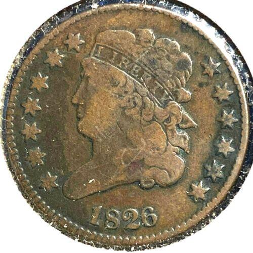 1826 1/2C Classic Head Half Cent (56361)