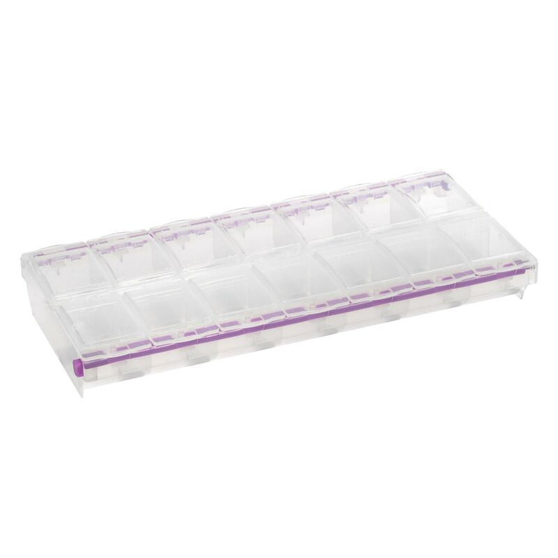Craft Mates Lockables Double Extra Large (2 XL) Organizer with Fourteen (14) ...