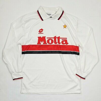 1993 1994 AC MILAN Long-sleeve Soccer Jersey Football Shirt Kit MEDIUM 90s vtg