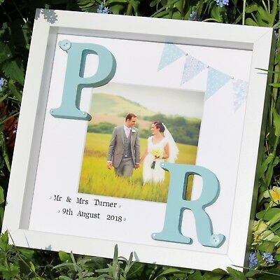 CHRISTMAS Wedding bridal gift present photo frame personalised handmade marriage ()