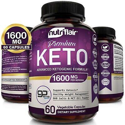 ☀ Best Keto Diet Pills 1600mg with MCT Oil Powder- Advance