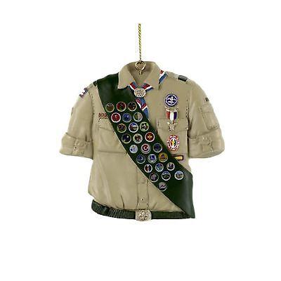 Kurt Adler Boy Scouts Of America Shirt With Sash Ornament