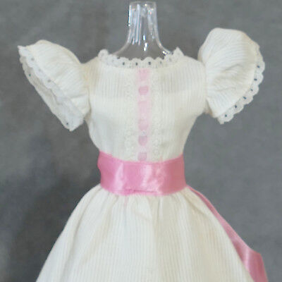 Barbie 1980s Fashion Clothes Dress Vintage Short MY FIRST BARBIE White Pink
